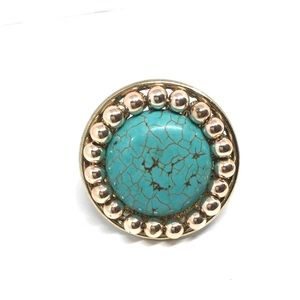 Faux turquoise  stretch rings. Turquoise rings